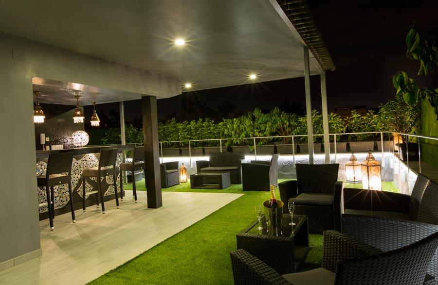 Terraza privada en marabu madrid