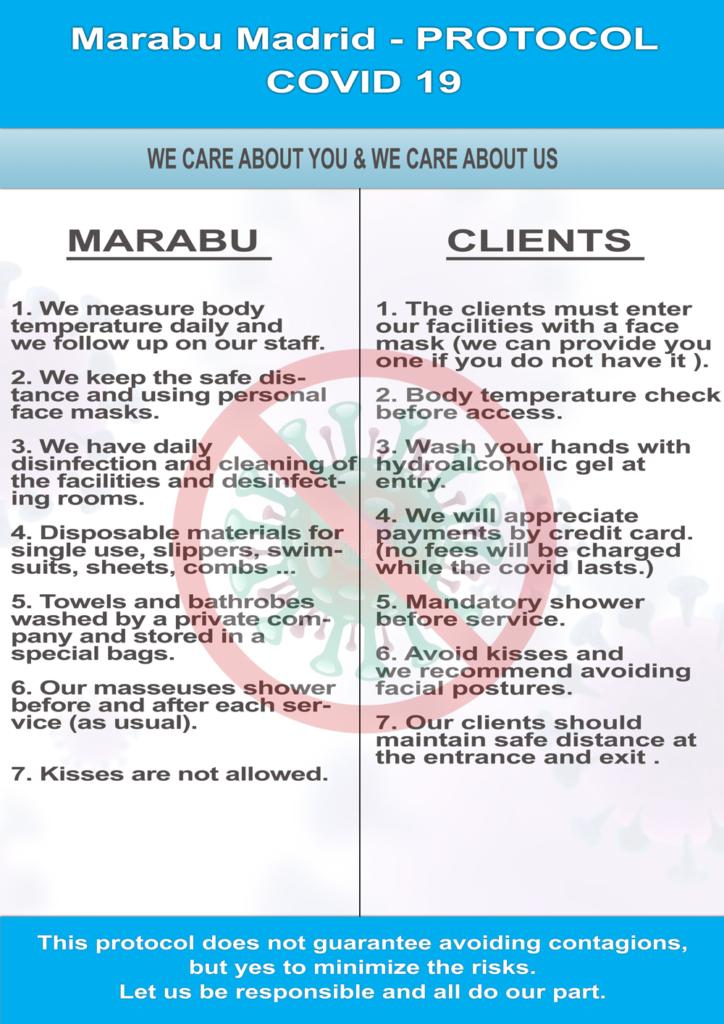 Marabu safety protocol covid 19 2 19/06/2020 | Erotic Massages Madrid